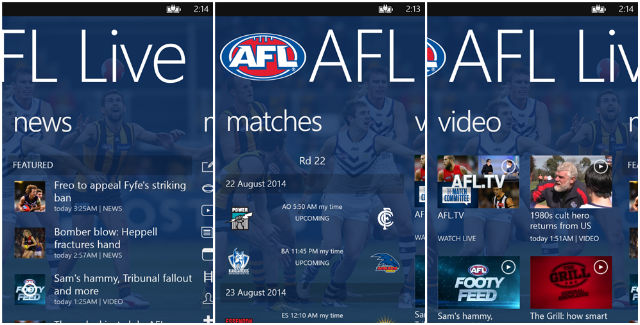 1 AFL Info with an App
