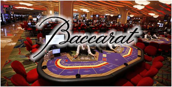 Baccarat game at casinos
