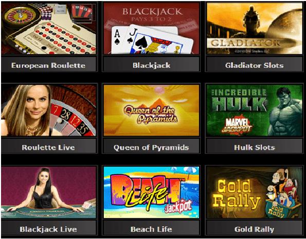 Casino dot com games