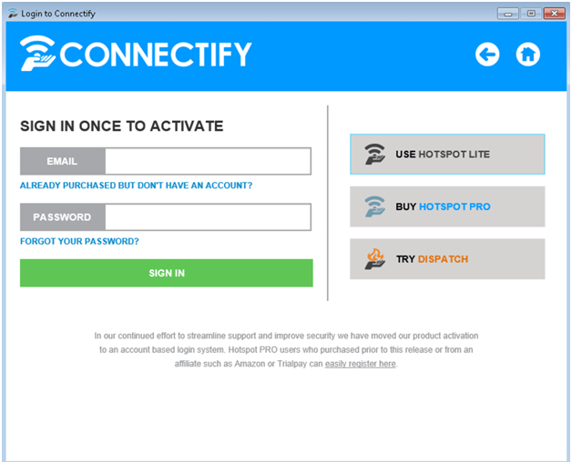 Connectify app