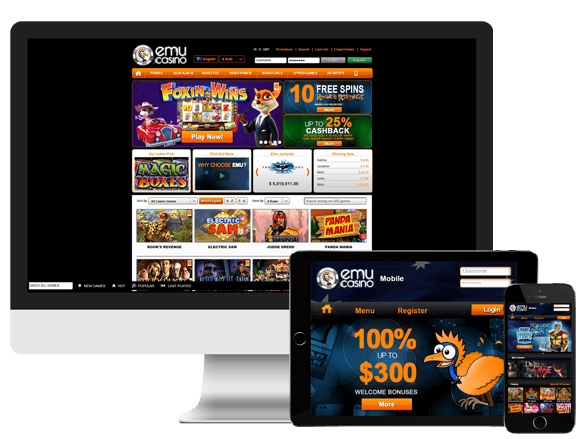 Emu Casino pokies for windows PC and mobile