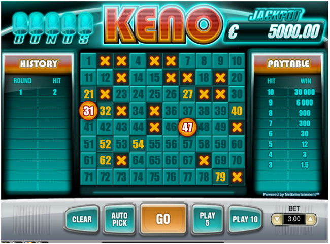 Find a Progressive Keno Game