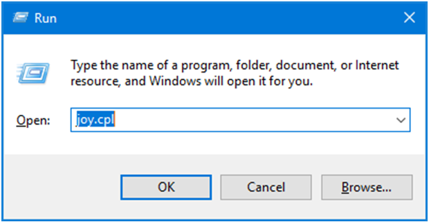 Game controller settings via run command