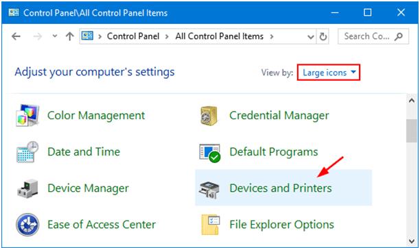 Game controller settings via control panel
