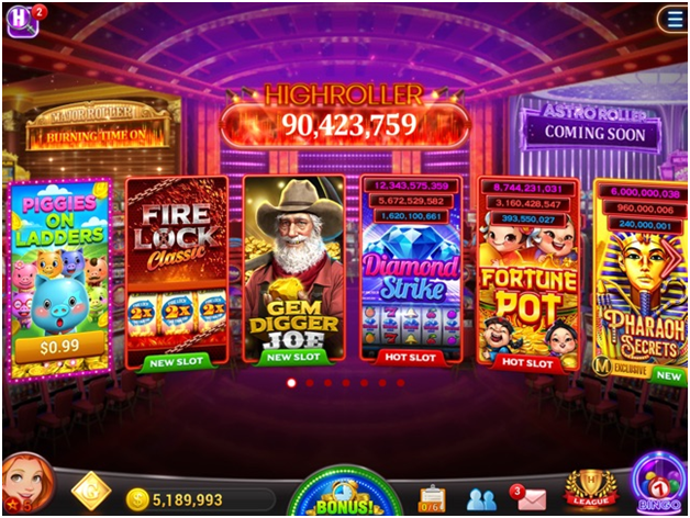 Features of the High Roller Vegas Casino Slot
