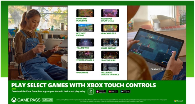 How does Touch Controls work on Xbox Cloud Gaming