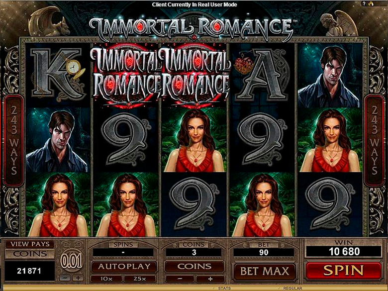 Immortal romance features