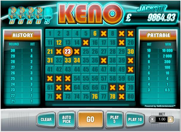 Keno For Free
