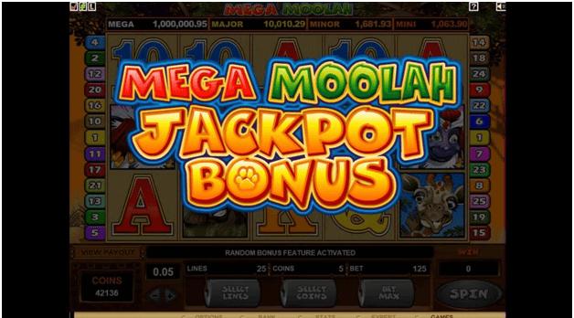 Mega moolah- Jackpot bonus