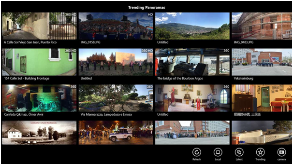 Panorama photo apps