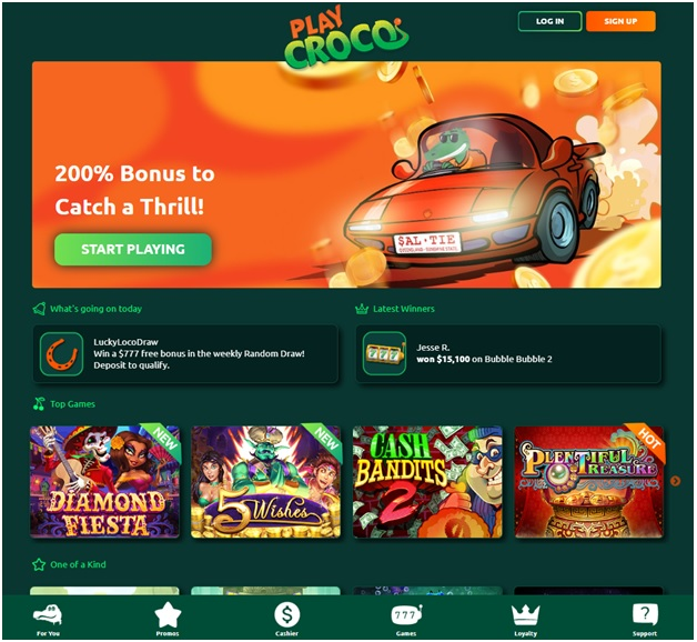 How to play pokies at Play Croco Australian online casino on Windows PC?