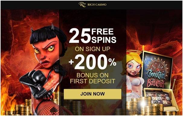 Rich casino bonus offer