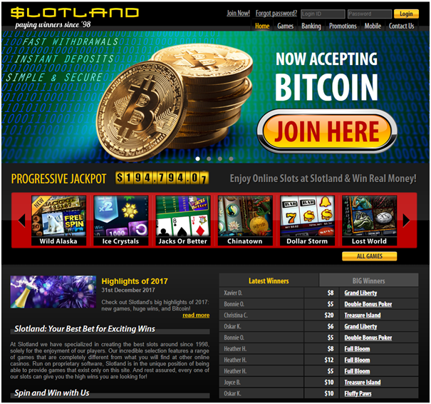 Slotland Casino- Pokies for windows to enjoy in BTC