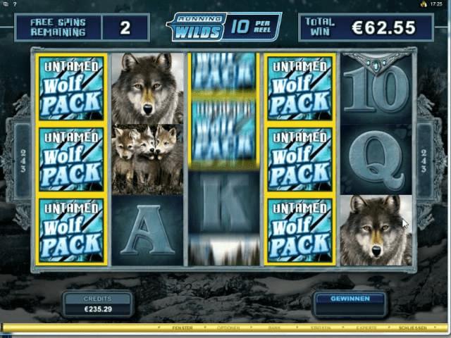 Untamed Wolf free spins