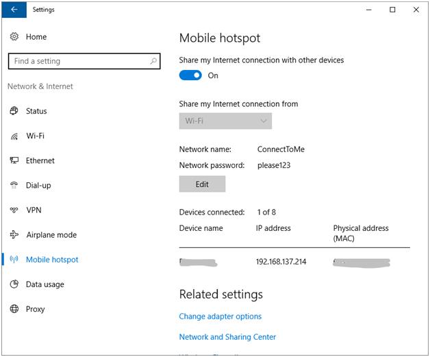 Windows Hotspot