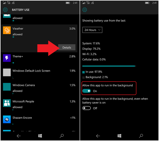 Windows Mobile Battery Use