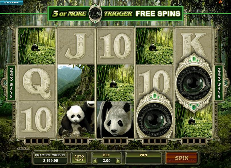 free spins untamed panda