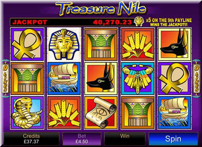 treasure nile pokies game